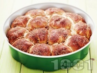 Домашни малки питки със сирене, бяло брашно и масло (със сода и кисело мляко)